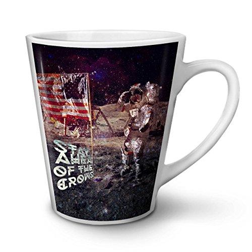 Wellcoda Apollo Galaxis Latte BecherGalaxis Kaffeetasse - Komfortabler Griff, Zweiseitiger Druck, robuste Keramik