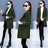 KYH Wollmantel Mantel Kleid Mantel Jacke Pullover Wollpullover, S, Militär Grün