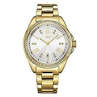 ساعة جيه بي دبليو لكلا الجنسين مرصعة ب 12 قطعة الماس بسوار من الستانلس الستيل - J6340B
