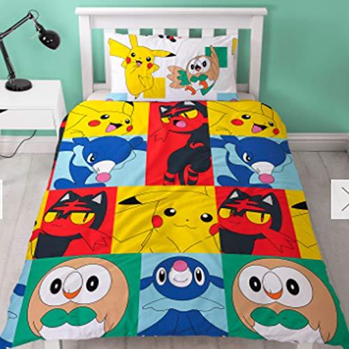 Sofias Closet Offizielles Disney Kinder Bettbezug Sets Single Bettwäsche Cartoon Favourites, Pokemon