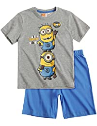 Minions Despicable Me Chicos Pijama mangas cortas 2016 Collection - Gris