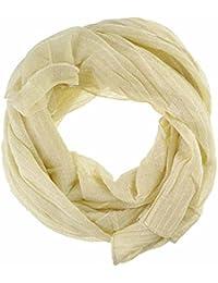 Women Ladies Plain Glitter Scarf Lurex Scarves Crinkled Neck, Hijab