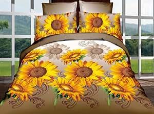 155x200 cm 3D Microfaser Bettwäsche Bettbezüge Bettwäschegarnituren 3tlg schöne Farben und Muster Blumenmuster Modern Folk FSH325