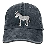 Funny Donkey Mule Denim Hat Adjustable Mens Tactical Baseball Caps