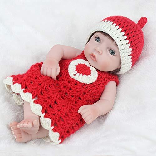 Reborn Baby Mini Dolls Reborn Silikon Reborn Babys Mädchen Spielzeug für Kinder 3 Jahre lebendige Babys lebensechte Puppe Spielzeug Geschenk (Lebensechte Baby-puppen Für Erwachsene)