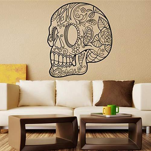 Halloween Requisiten Kreative Wandaufkleber 22,8 × 26,4 zoll Schädel Muster Dekoriert für Wohnzimmer Schlafzimmer Halloween Party Decor Indoor (Entwerfen Sie Ihre Eigenen Kostüm)