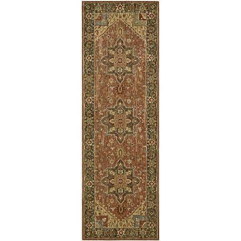 Nourison Teppich Mondrian 99446670649–Rost maschinengefertigter Teppich, Rost, 3ft 6x 5FT 6