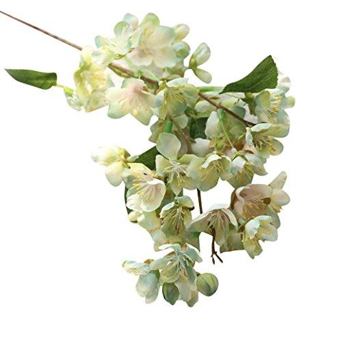 SMARTLADY Flores Artificiales Flores de cerezo para Boda Fiesta Hogar Decoración (Menta...