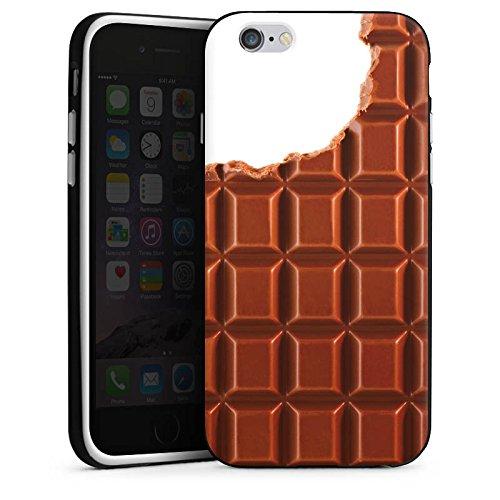 Apple iPhone 5s Housse Étui Protection Coque Chocolat Chocolat Choco Housse en silicone noir / blanc