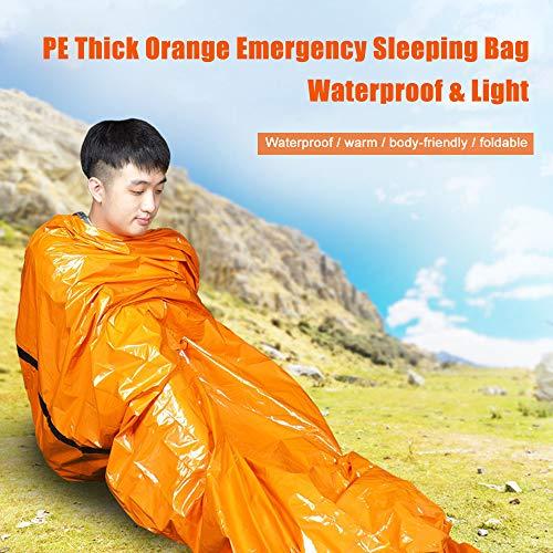 Festnight Wiederverwendbare Notfall Schlafsack Notüberlebens Decke Camping Zelt Thermische Wasserdichte Outdoor Notfallausrüstung (Camping Für Notfall-zelte)