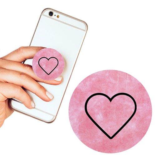 Pop Phone Grip ausziehbarer Ständer Multifunktionaler Smartphone-Halter Universal Telefon Finger hands Socket Halterung - Herz Farbe Marmor(Rosa) (Lila Eule Iphone 5 Fall)