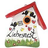 Original Vogelvilla Liebesnest Brief Nistmini Spezial Vogelhaus Nistkasten incl. Metallhaken