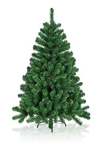 Hiskøl 150 cm ca. 680 Astspitzen Künstlicher Weihnachtsbaum Tannenbaum Christbaum inklusive Christbaumständer, grün
