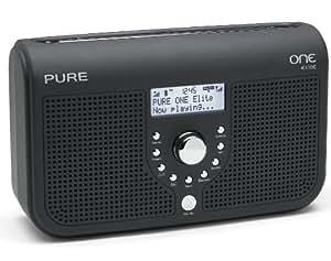 Pure ONE Elite Tragbares Stereo-Radio (DAB/DAB+/ UKW-Tuner, Uhr mit Weckfunktion, Mini USB 2.0) schwarz