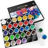ARTEZA Colori a Dita per Bambini, Atossici, Set di 30 Colori in Contenitori da 30ml, Lavabili, Set Artistico per Bambini per Carta, Tela Tessuti e Progetti Fai-da-Te