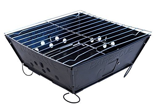 Faltbar faltbare Grill Barbecue Flat Pack tragbares Camping Garten Außengrill