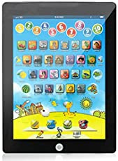Tablet PC Model Touch Screen Bilingual Learning Machine Educational Toy for Children (Blue)