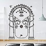 JXTK El señor de los anillos Tatuajes de pared Dormitorio Sala de estar Película El señor de los anillos Minas de Moria Puerta LOTR Etiqueta de la pared Vinilo Decal Boy Room 56x40cm