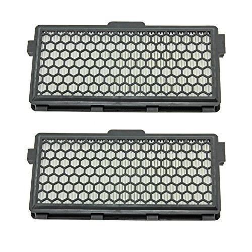 Spares2go SF-AH50 type Active Air Clean HEPA cartouche de filtre pour Miele Compact C2 Allergy EcoLine Plus, C2 Cat & Dog PowerLine aspirateurs (Noir) (lot de 2)