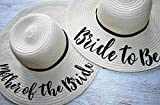 Perosonalised Sun Hat Wedding Bride to Be Honeymoon