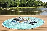 NANDNANDINI TEXTILE- ombre Indian Mandala Round Roundie Beach Throw Tapisserie Hippy Boho Gypsy Baumwolle Tischdecke Strandtuch, runde Yoga-Matte