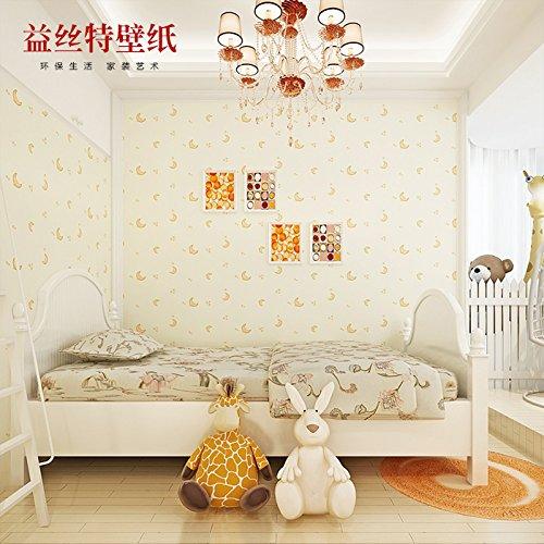 fyzs-calida-sala-infantil-wallpaper-chicos-y-chicas-dormitorio-verde-azul-fondos-de-pantalla-techo-w