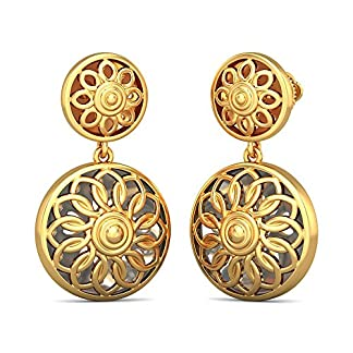 BlueStone 22k (916) Yellow Gold Saksham Drop Earrings