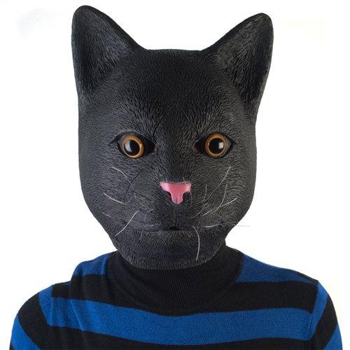 LatestBuy Madheadz Partymaske, Schwarze Katze