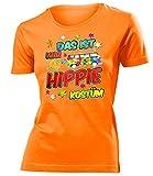 Das ist Mein Hippie Kostüm 4917 Damen Karneval Faschingskostüm Fun-T-Shirts Orange L