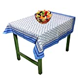 RoyaltyRoute Quadratische Tischdecke Baumwolle Multicolor Floral Design Muster Indian Home Küche Dekor 100 x 100 cm