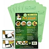 Bittu® Pet-fresh 6pcs 6 pieces Pet Odours Control Moisture Absorb Biodegradable Mat Board for Litter Tray