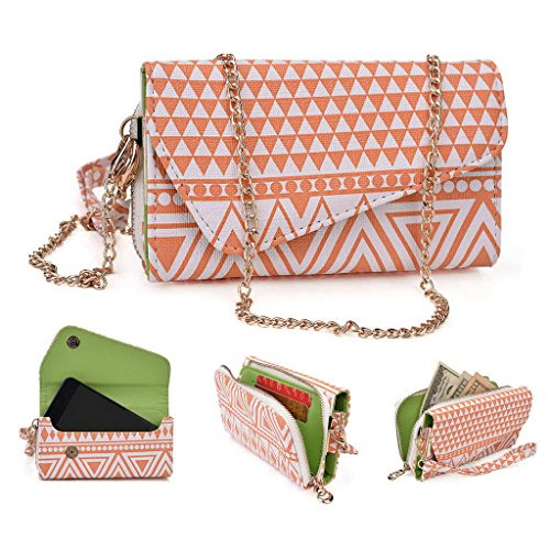Kroo Pochette/étui style tribal urbain pour Acer Liquid Z220 Multicolore - vert Multicolore - White and Orange