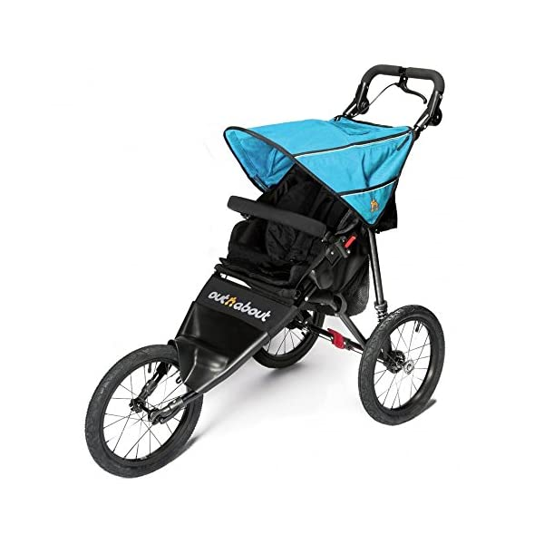 Out n About Nipper Sport Special Edition Marine Blue Out 'n' About A true all-terrain jogger, fixed 3-Wheel pushchair, suitable for use from Birth to 4 years (approx) Ideal for off-road conditions and to use whilst jogging Latest V4 Model has auto-lock fold, height adjustable handles & handle bar mounted brake lever 1