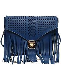 Hawai Blue Cut Work Design Small PU Sling Bag