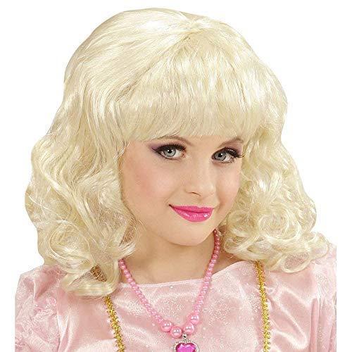 Lively Moments Perücke Prinzessin für Kinder mit Pony / Lockenperücke in blond / Kinder Kostüm Zubehör