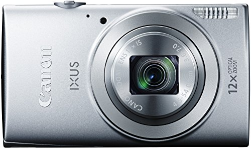 Canon IXUS 170 Digitalkamera (20 MP, 12-fach optisch, Zoom, 24-fach ZoomPlus, opt. Bildstabilisator, 6,8cm (2,7 Zoll) LCD-Display, HD-Movie 720p) silber