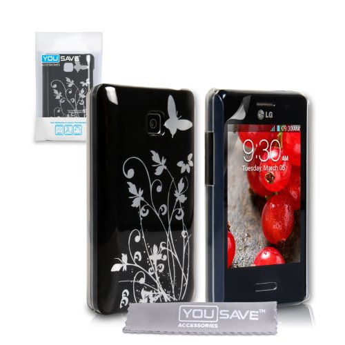 lg-optimus-l3-ii-case-black-floral-butterfly-hard-cover