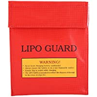 Alomejor Battery Safe Bag, Explosionproof Fireproof Lipo Battery Storage Charging Safe Bag Pouch Sack 18cm x 23cm - Compare prices on radiocontrollers.eu
