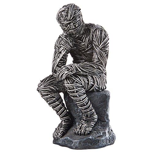 Versklavung des Wissens Thinker Statue - Mummy Statue - Zombie - Geschichte Halloween-gruselige Mit Requisiten