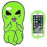 Leosimp -Coque motif Dessin animé pour iPhone 5, Silicone, Cool Alien, iPhone SE...
