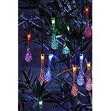 Auraglow solarbetriebene LED Lichterkette mit 20 Set dekorativen Garten Fee licht