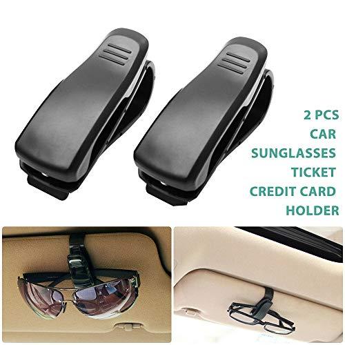 Maso 2 Stück Brillenhalter Ticket-Clip für Auto-Sonnenblende, Lesebrille, Sonnenbrillen, Brillenkarten-Stift