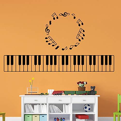 SLQUIET Exquisite Musik Klaviertastatur Abnehmbare Art Vinyl Wandaufkleber Wohnzimmer Kinderzimmer Dekoration Zubehör Wanddekoration Wandaufkleber Haus Und Garten Mode Rosa M 30 cm X 126 cm