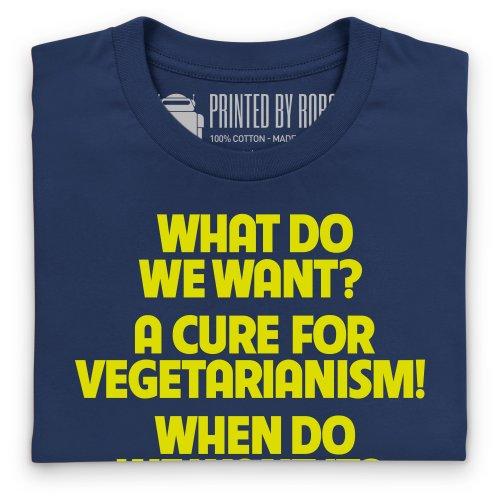Cure for Vegetarianism T-Shirt, Herren Dunkelblau
