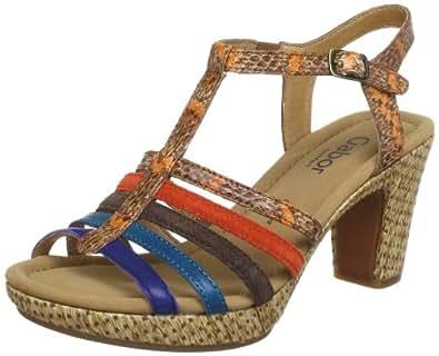gabor shoes comfort 6275320 damen sandalen orange orange blau kombi eu 36 uk 3 5 us 6. Black Bedroom Furniture Sets. Home Design Ideas