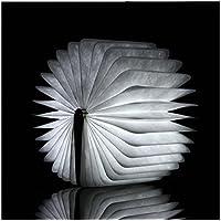 Luz de libro plegable de madera,Luz blanca cálida decoración led plegable reserva luz usb recargable libro creativo libro en forma de luz nocturna libro mesa lámpara de escritorio-A