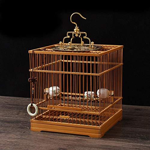 XWYGW Haustierbett Bambus Vogel Träger kann Hung im Flug Käfig, Klassik Durable Indoor-Vogelkäfig-Außenvogelzuchtkäfig, Geeignet for Parrot/Vogel -