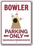 The Lizton Sign Shop Melone, Bowler Parking Schild, Bowler Geschenk, Decor, Bowling-Zeichen, Geschenk, Bowling-Alley Schild, Aluminium, 1 10