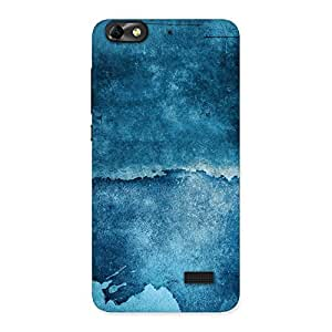 Delighted Blue Paint Print Back Case Cover for Honor 4C