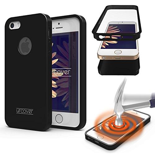 iPhone 7 Plus Étui, Urcover Full Body Dual Apple iPhone 7 Plus Coque 360 Degrés Layer TPU + PC Placage [Nouvelle Version] Housse Antichoc Rouge Case Noir